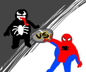 Fat Spider Man Vs Fat Venom Drawing By Vanyadraws Drawception