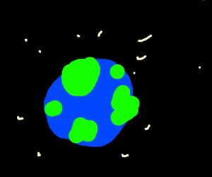 bad drawing of earth? lol