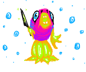 A crazy-looking fish.
