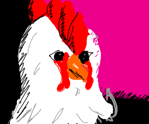 hotline Miami character (chicken mask)