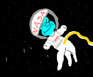 Squidward in space