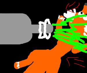 Fox sucked in by green ray gun