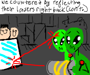 The aliens threatened us with lasers (cont.)