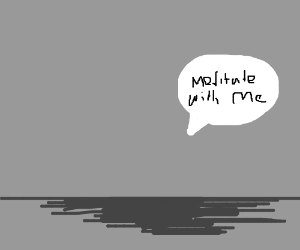 Invisible man meditates
