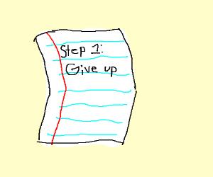 Step One: Fail to create a 15-step game