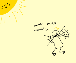 Man screams pun memes at sun