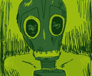 Guy in gasmask