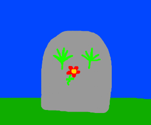 RIP weeds with a flower