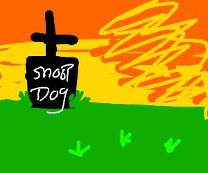 Snoop doggs grave stone