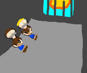 hostages watching the sun as there days go bye