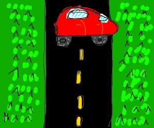 car on a raod