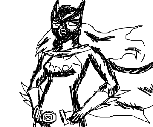 batgirl's cowl has no mouth