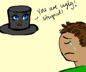 anime tophat hurt my feelings :(