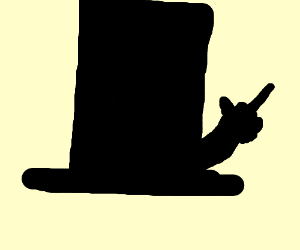 A Top hat with the finger out
