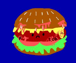 bleeding burger