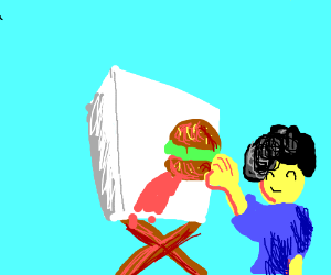 Painting with fast food