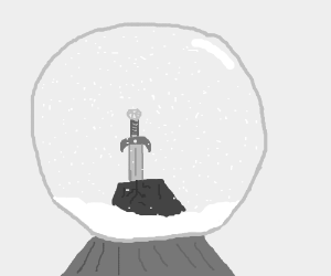 Snowglobe featuring The Sword in the Stone