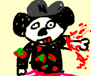 bleeding Mickey Mouse