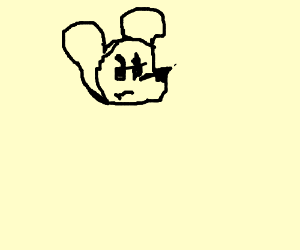 a pissed mouse