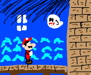 Super Mario in Ghost House