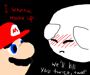 Mario's encounter with a Boo