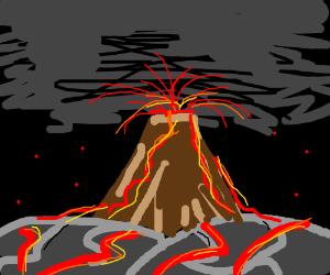 Volcanoe erupting
