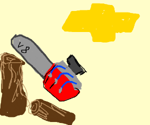 chevy v8 bigblock chainsaw