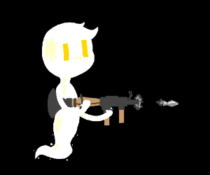 Ghost with a rocket launcher
