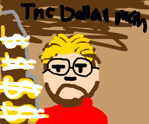 the final boss is the dollarman with glasses