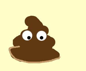 Poop with eyes