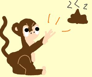 Monkey Throwing Poop At People Drawception
