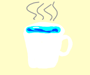 Cup of water w/ steam