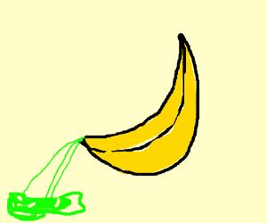 peeing banna