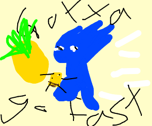 Sanic with pinapple