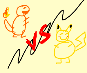 Charmander vs. Pikachu