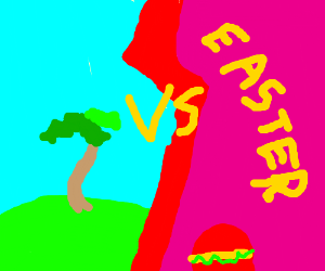 A palm tree VS Easter
