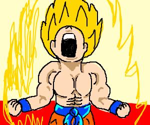 Goku goes saiyan