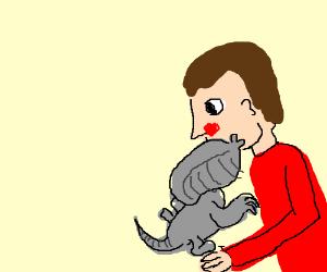 baby Xenomorph kissing daddy David - Drawception