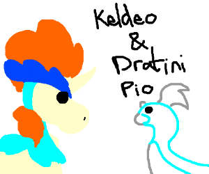 Keldeo and Dratini PIO