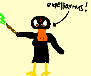 daffy duck as harry potter