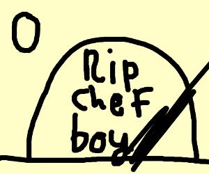 Chef Boy R Dee's grave