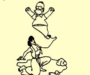 Aladdin and Homer Simpson ...