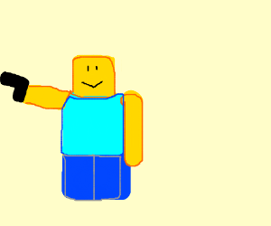 Roblox Yellow Character With A Gun Drawing By Deleted Drawception