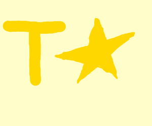 Yellow T and star