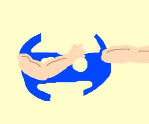 Discord logo doing the dab! - Drawception