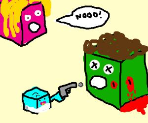 baby cube kill bigger cube