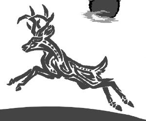 Deer Tribal Art Tattoo
