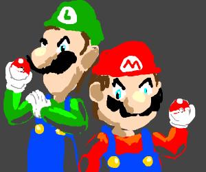 Mario and Luigi are Pokemasters
