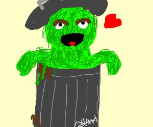 Oscar the Grump loves trash