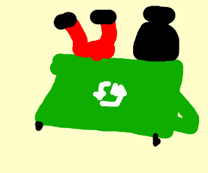 Oscar LOVES trash